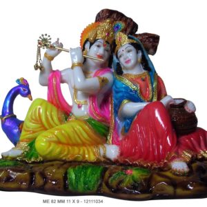 Radha Krishna Murti with peacock