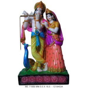 Buy Indian Religious Idol : Radha Krishna Colour Murti