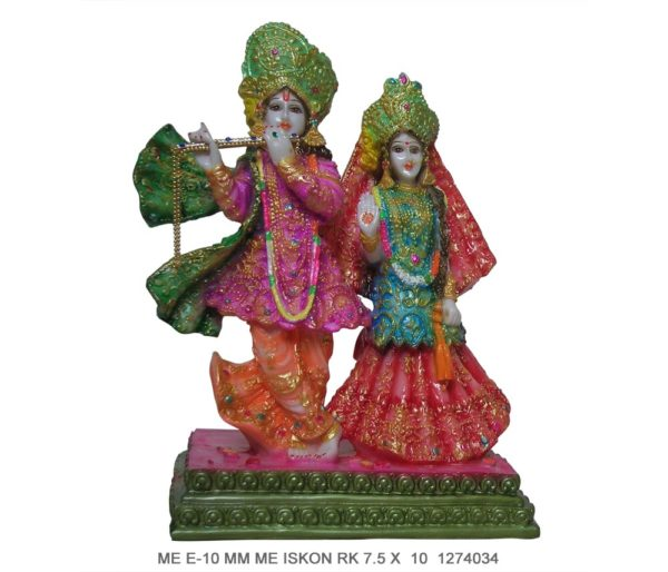 Buy Radha Krishna Colour Murti