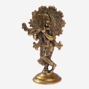 krishan brass statue murti