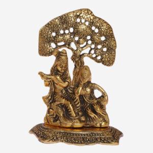 """Krishna Brass Statue Murti Gift Item """"8 inches height"""""""