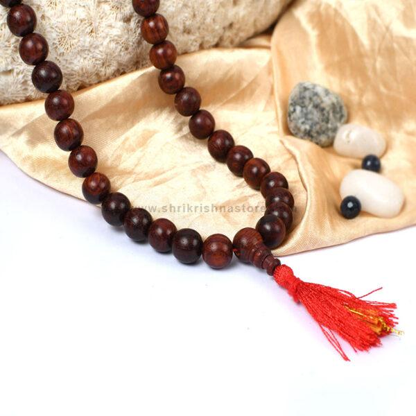 Red sandalwood mala - Large beads