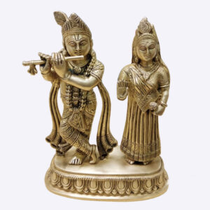 Radha Krishna Pair Original Brass Idol