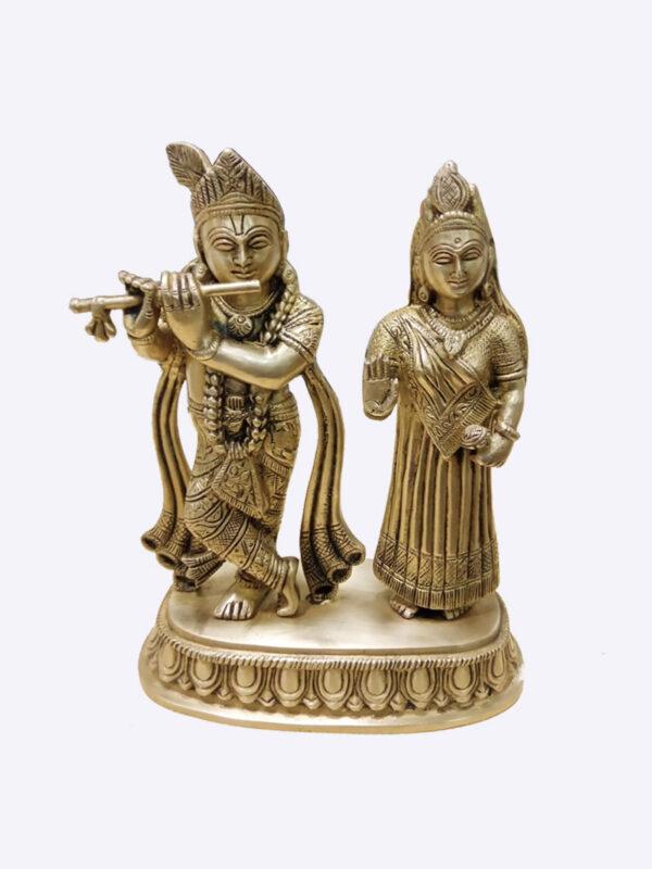 Radha Krishna Pair Original Brass Idol