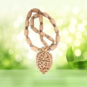 Shree Radha Pendant in Tulsi Mala