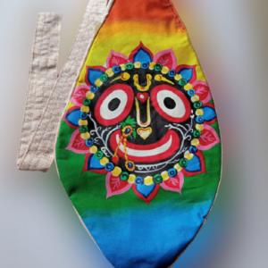 Jagannath Sky - Hand Painted Bead Bag