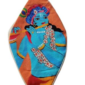 Shri Krishna - Hand Painted Bead Bag