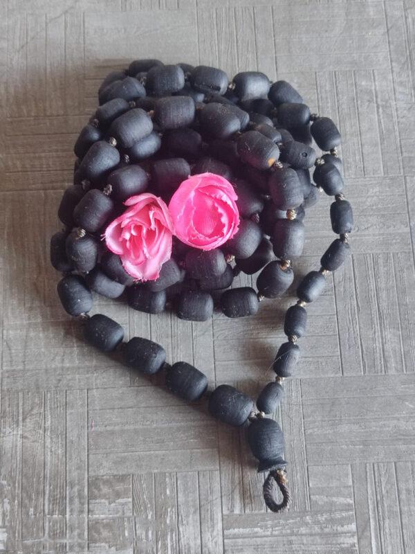 Shyama Tulsi Japa Mala 108 Beads Cylendrial