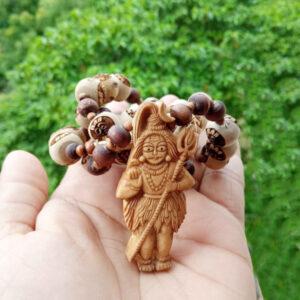 Shivji Locket Mala With Om Namah Shivay Tulsi Beads