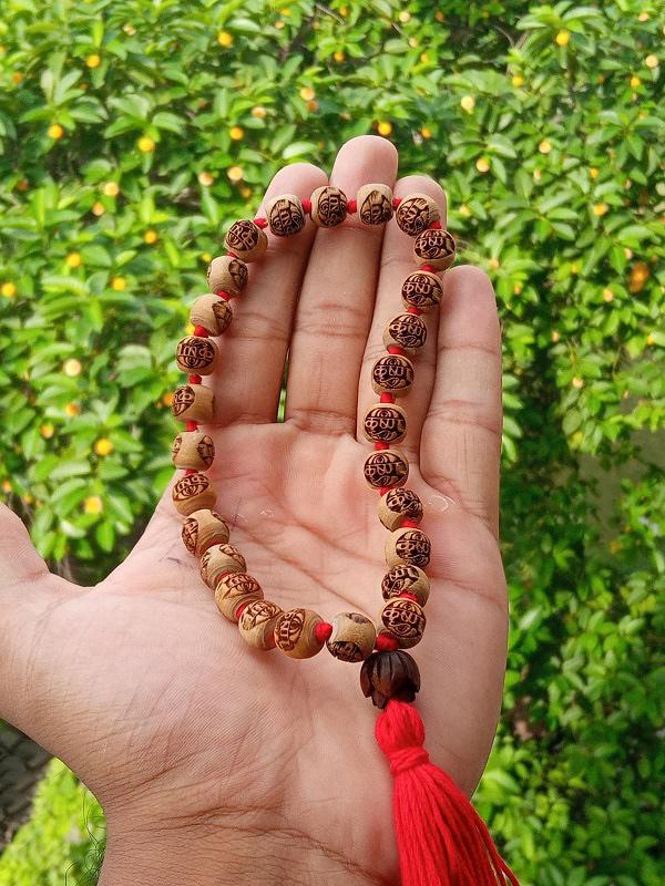 Krishna Nam 27 Beads Tulsi Japa Mala
