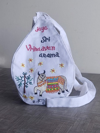 Embroidery Japa Bead Bag