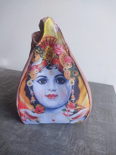 Baal Krishna Digital Print Japa Bead Bag